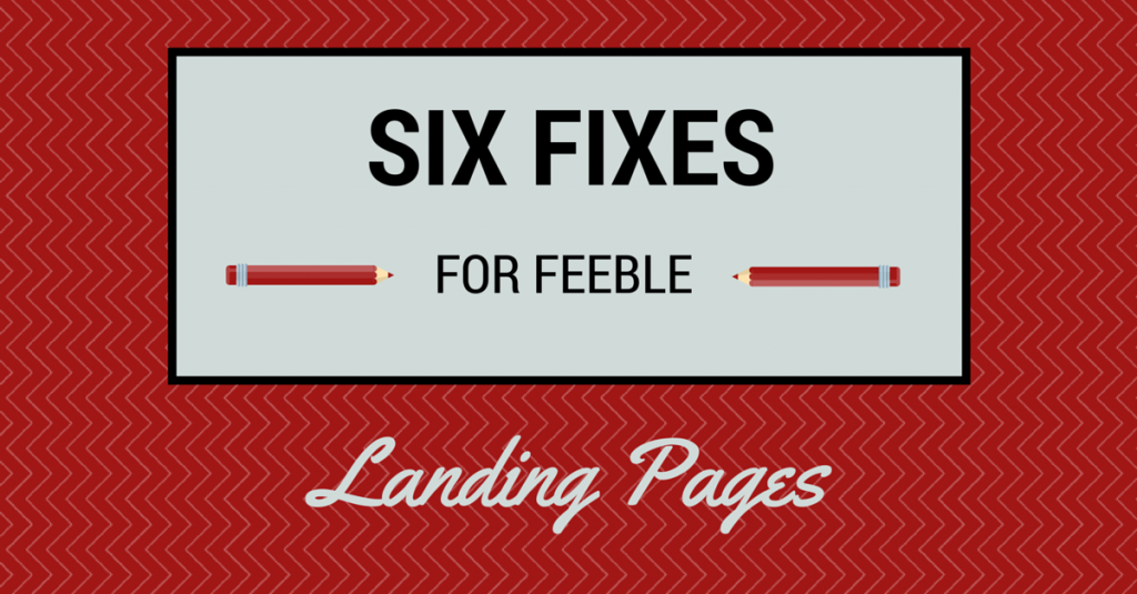 Landing page fixes