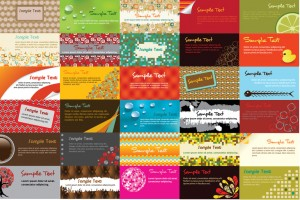 different business cards