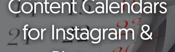 {Free} Printable Content Calendars for Instagram & Pinterest