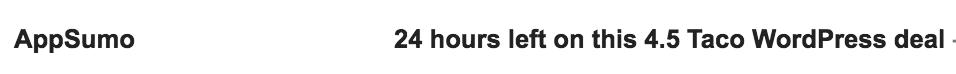 appsumo 24 hours left